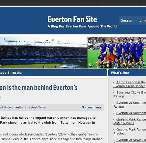 Everton Fan Site