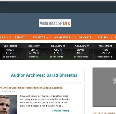 World Soccer Talk - Centre